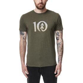 tentree Gradient Ten T-Shirt Men olive night green heather
